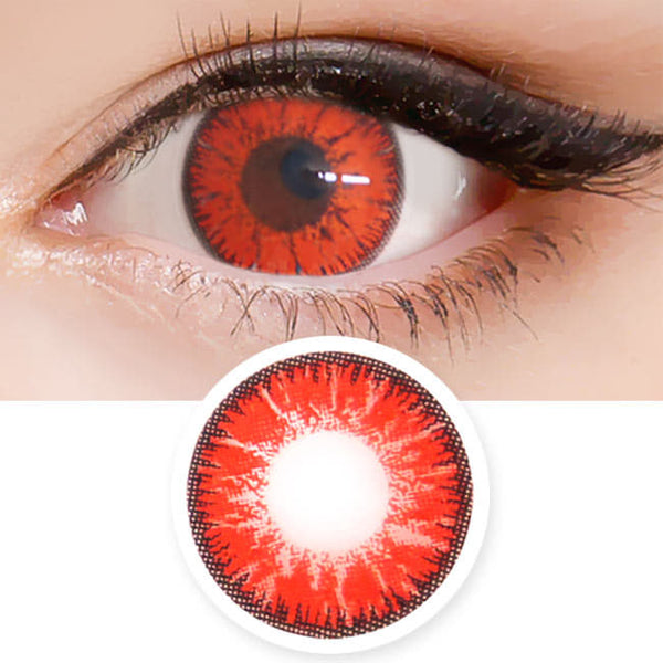 Candy Halloween Red Brown Contacts