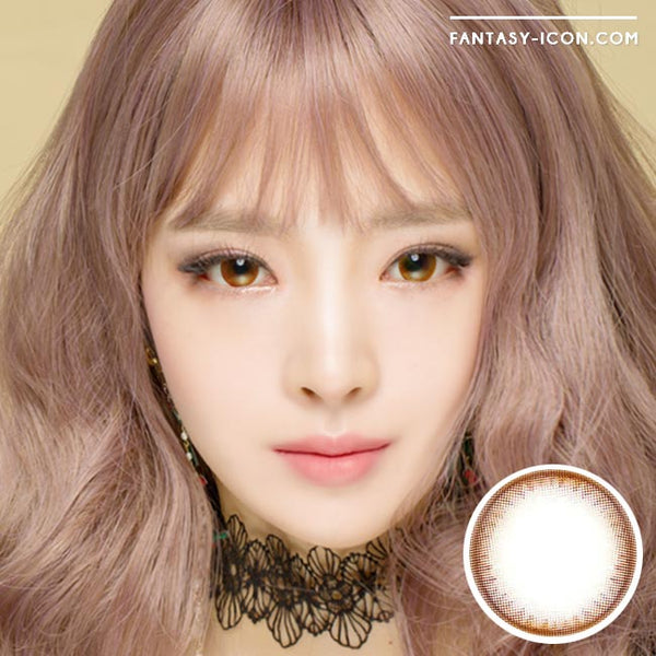 Colored contacts for Hyperopia Pearl Chocolate Brown 1