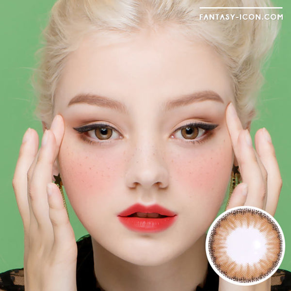Colored Contacts Cielo Cloud Brown - Circle Lenses 1