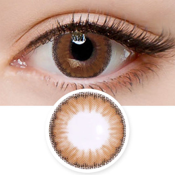 Colored Contacts Cielo Cloud Brown - Circle Lenses