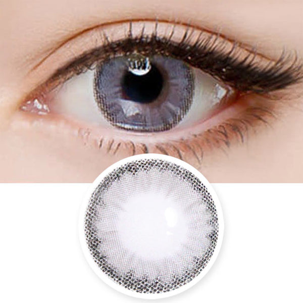 Colored Contacts Cielo Cloud Grey - Circle Lenses