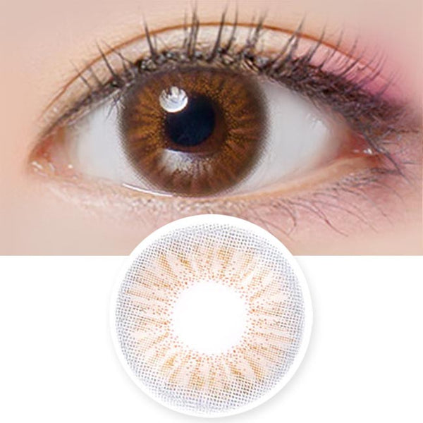 Colored Contacts Coco Peony Brown - Circle Lens
