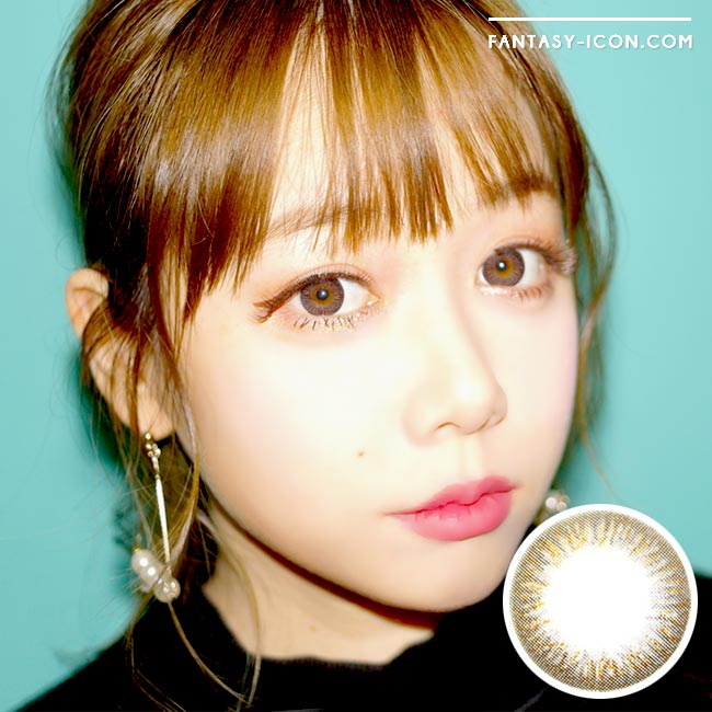 Colored Contacts Elsa Noble Brown - Circle Lenses 1