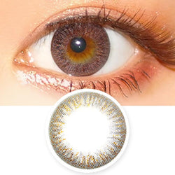 Colored Contacts Elsa Noble Brown - Circle Lenses