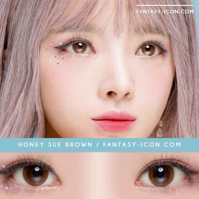 Colored Contacts Honey Sue Chocolate Brown - Circle Lenses 3