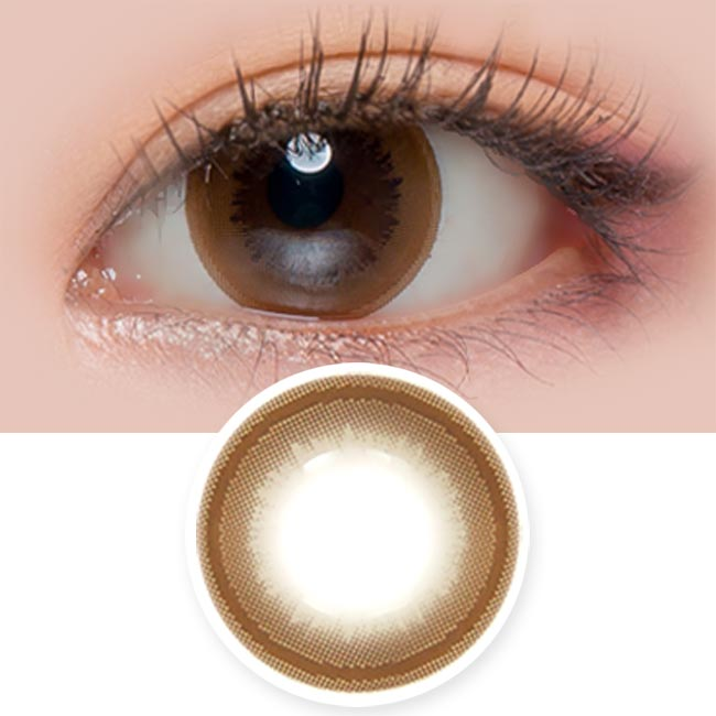 Colored Contacts Honey Sue Chocolate Brown - Circle Lenses