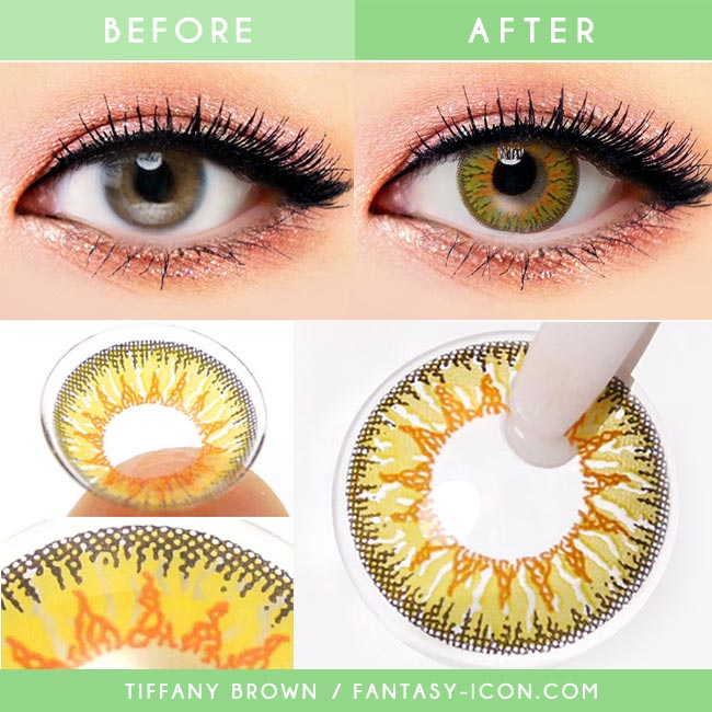 Colored Contacts Tiffany Brown - Circle Lenses 2
