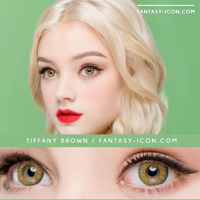 Colored Contacts Tiffany Brown - Circle Lenses 4
