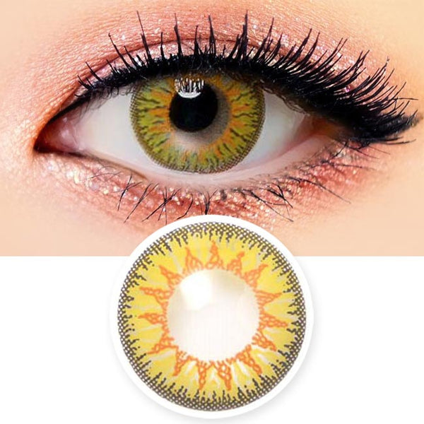 Colored Contacts Tiffany Brown - Circle Lenses