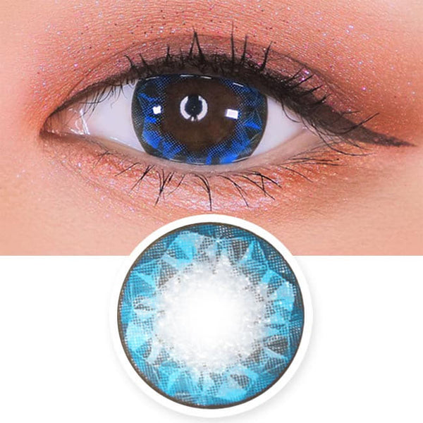 Crystal Ruby Queen Blue Contacts for Hperopyia | farsightedness