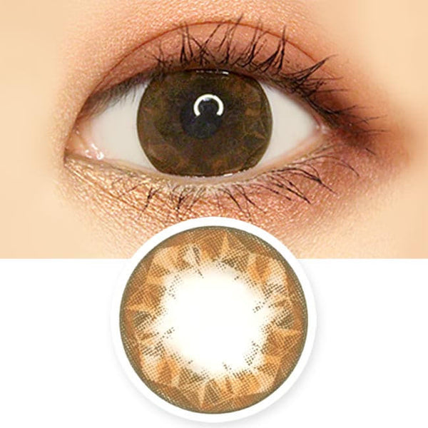Crystal Ruby Queen Brown Contacts for Hperopyia - farsightedness