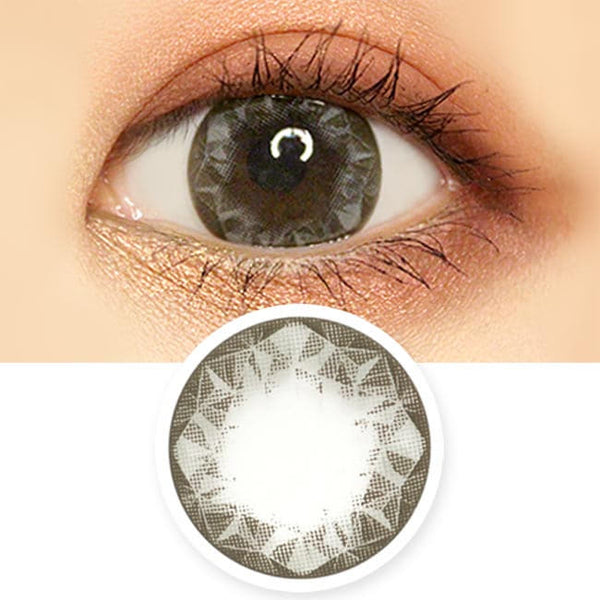 Crystal Ruby Queen Grey Colored Contacts - Circle Lens