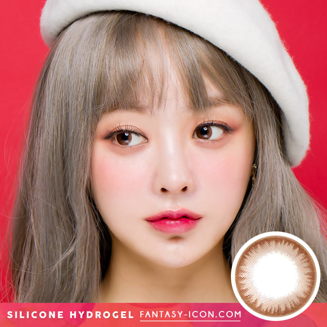 Crystal Silicone hydrogel Lens Chocolate Brown Colored Contacts model