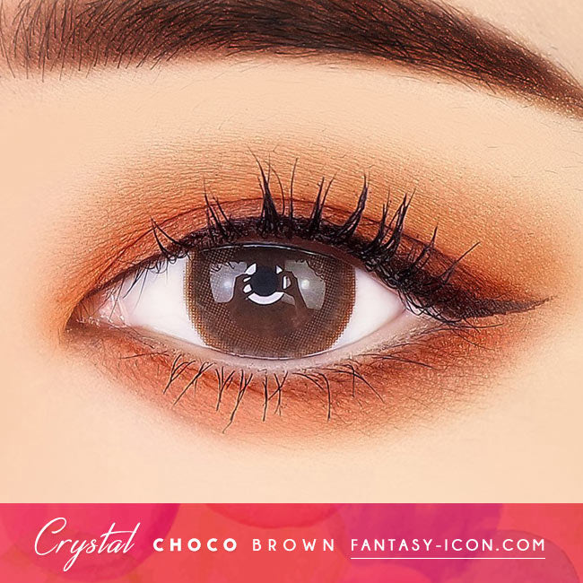Crystal Silicone hydrogel Lens Chocolate Brown Colored Contacts eyes 1