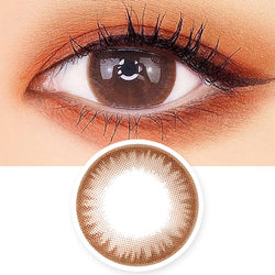 Crystal Silicone hydrogel Lens Chocolate Brown Colored Contacts - Circle Lenses