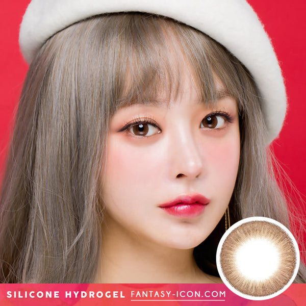 Crystal Silicone hydrogel Lens Brown Colored Contacts model