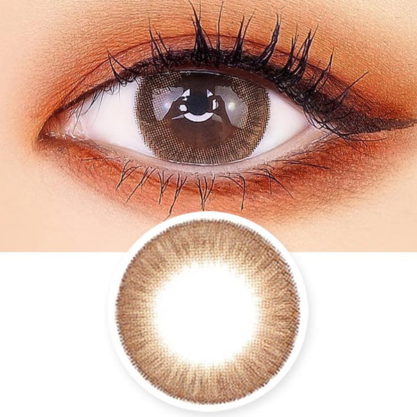 Crystal Silicone hydrogel Lens Brown Colored Contacts - Circle Lens