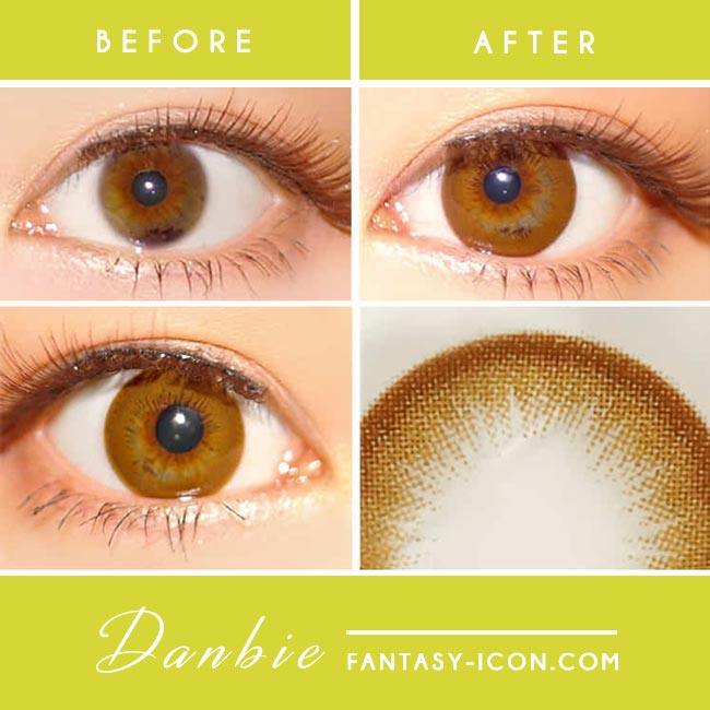 Danbie Brown Colored Contacts detail