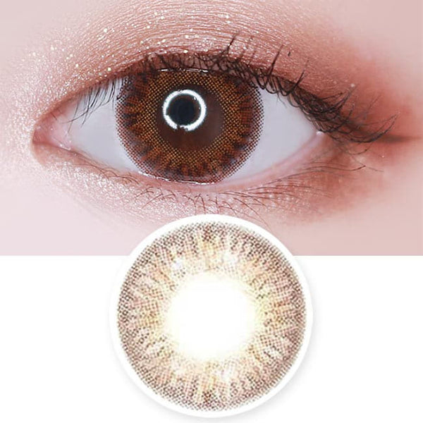 Colored Contacts Elsa Diana Brown - Circle Lenses