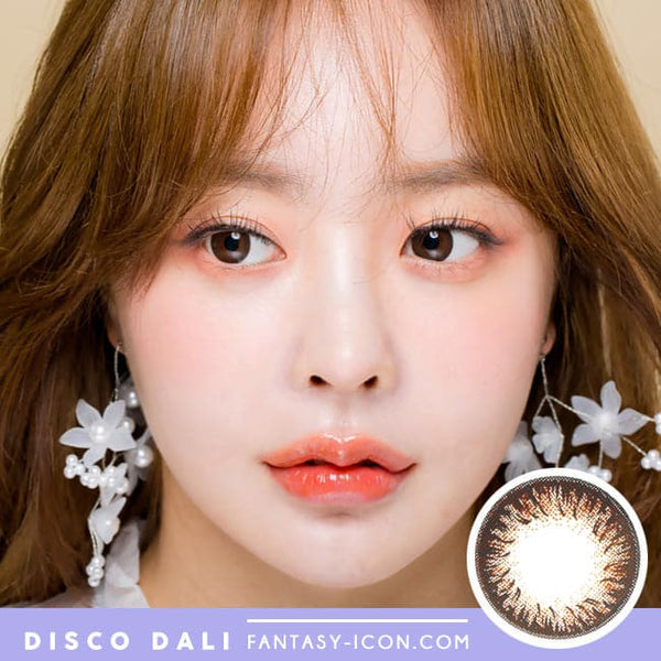 Disco Dali Brown Contacts for Hperopyia | farsightedness Model