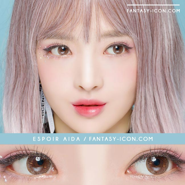 Toric Colored Contacts for Astigmatism - Espoir Aida Brown 3