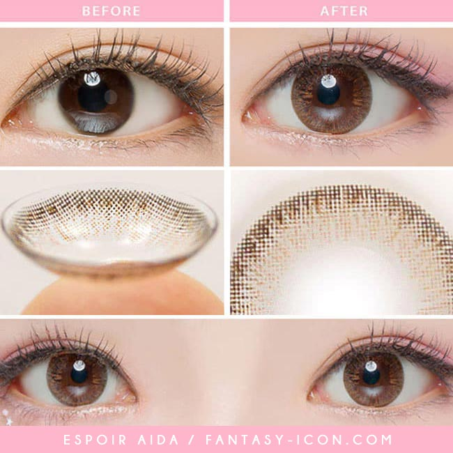 Toric Lenses Espoir Aida Brown Colored Contacts For Astigmatism 4