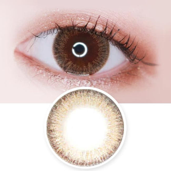 Toric Lens Espoir Aida Brown Colored Contacts For Astigmatism