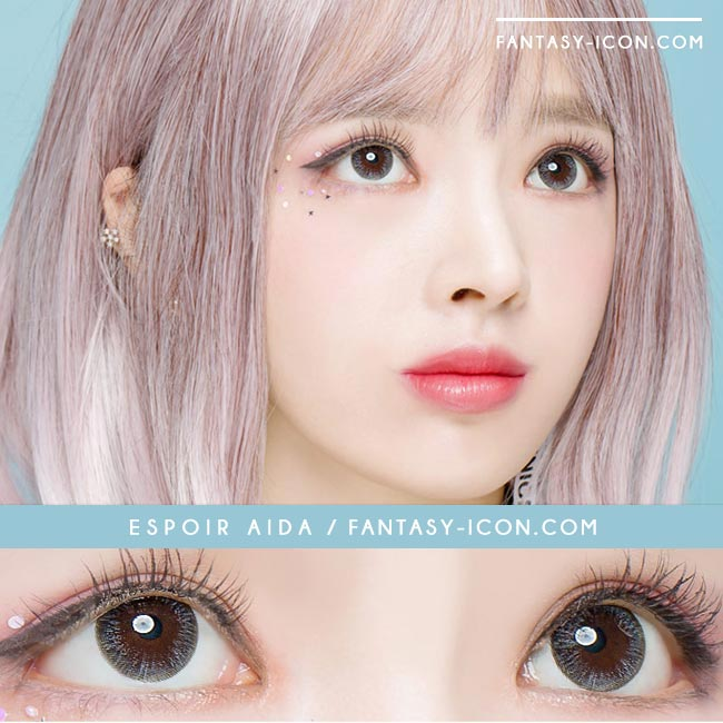 Colored Contacts For Astigmatism - Espoir Aida Grey 3