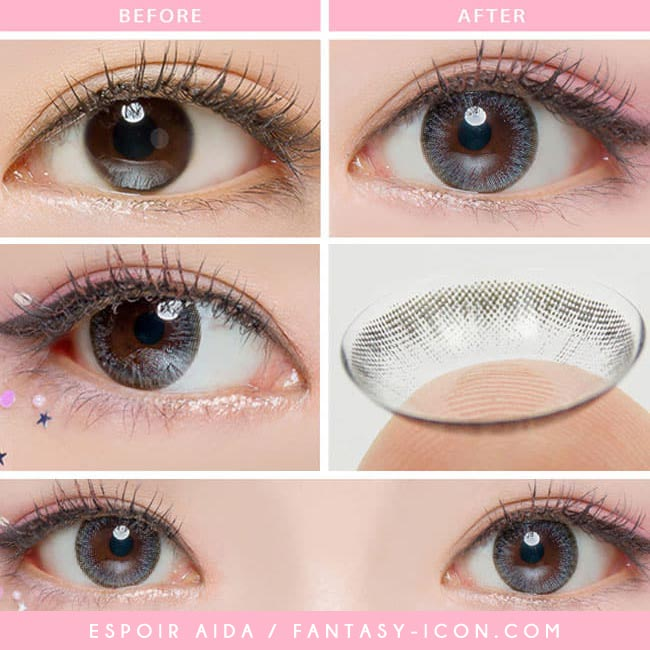 Colored Contacts For Astigmatism - Espoir Aida Grey 4