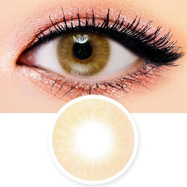 Etoile Honey Brown Colored Contacts - Circle Lenses
