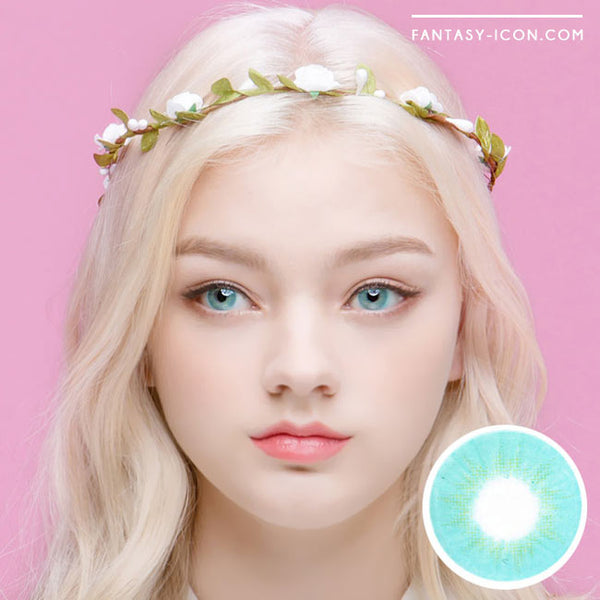 Innovision Fantasy Eye Aqua Blue Contacts | UV Blocking