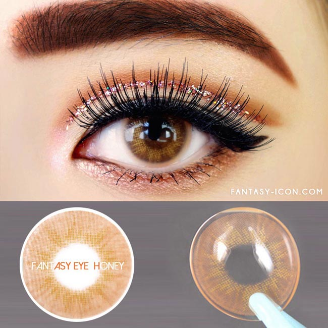 Innovision Fantasy Eye Honey Brown Contacts 1