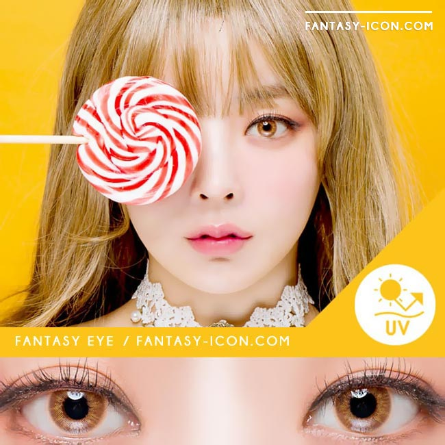 Fantasy Eye Honey Brown Colored Contact Lenses 4