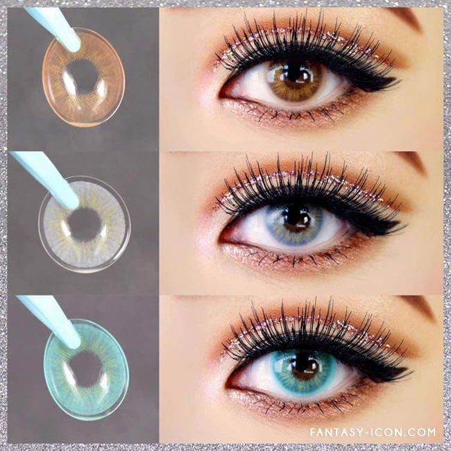 Fantasy Eye Honey Brown Colored Contact Lenses 5
