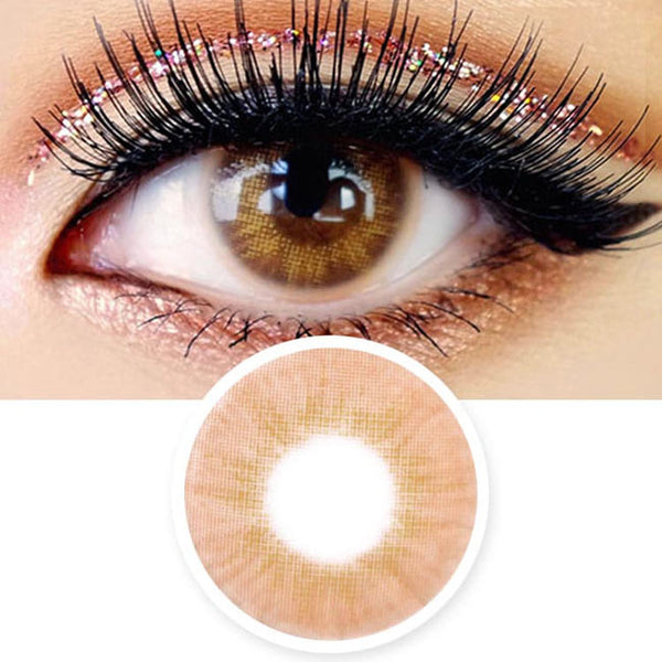 Innovision Fantasy Eye Honey Brown Contacts | UV Blocking