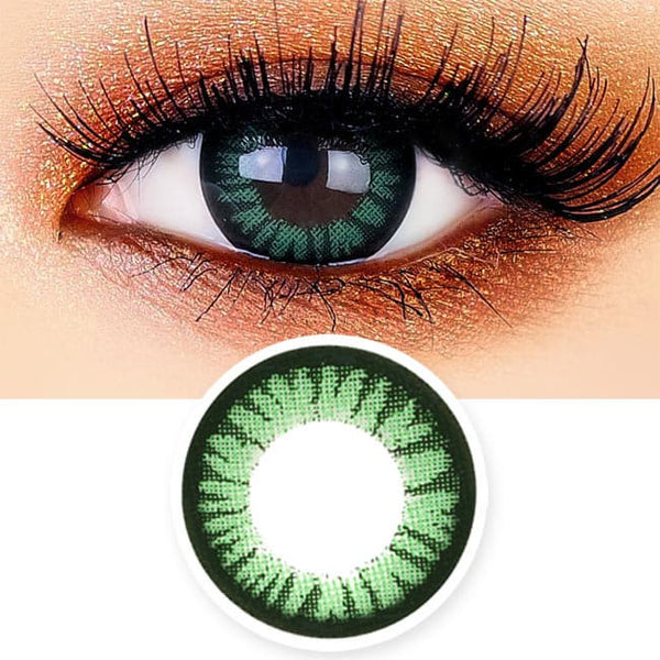 Juicy Cara Green Contacts for Hperopyia - farsightedness