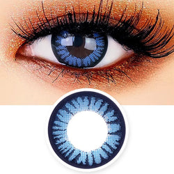 Juicy Cara Blue Contacts for Hperopyia - farsightedness