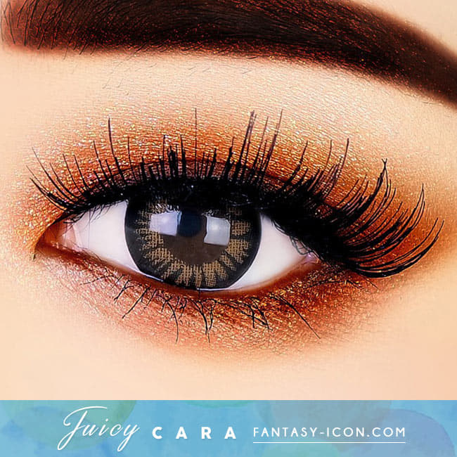 Colored Contacts for Hyperopia Juicy Cara Brown beautiful eyes