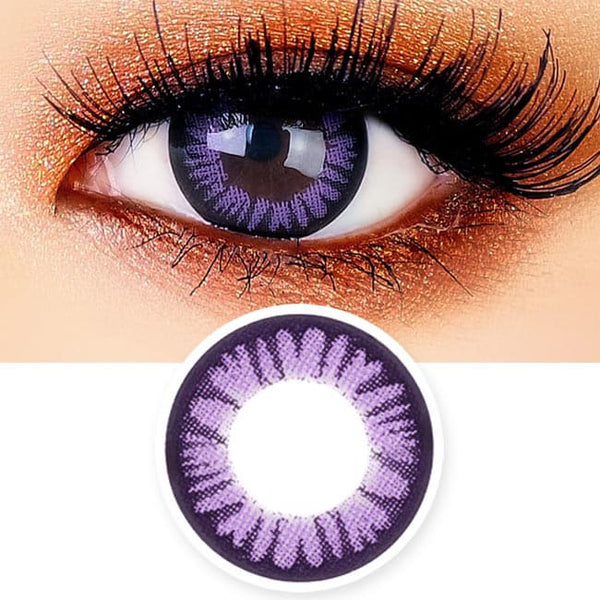 Juicy Cara Violet Contacts for Hperopyia - Purple farsightedness