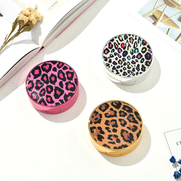 Fashion Leopard Contact Lenses Case - Random 1 Set Cute Contact Lens Box