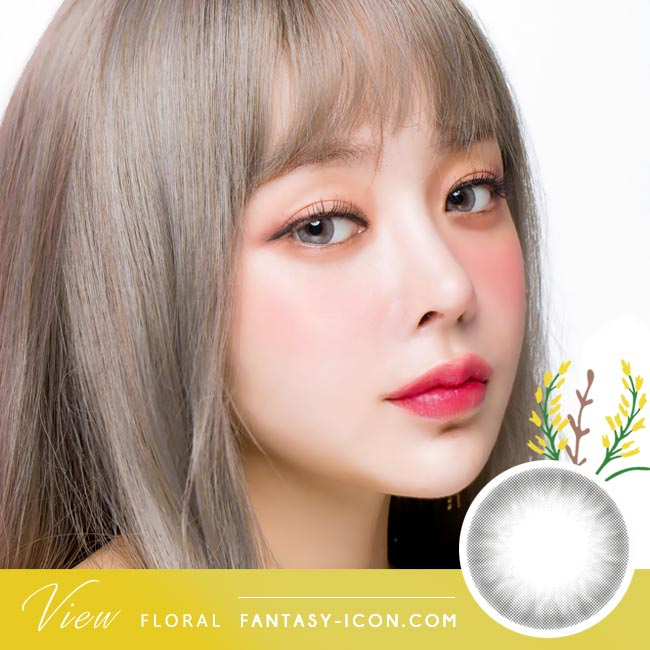 Grey Contacts - View Floral Gray Model