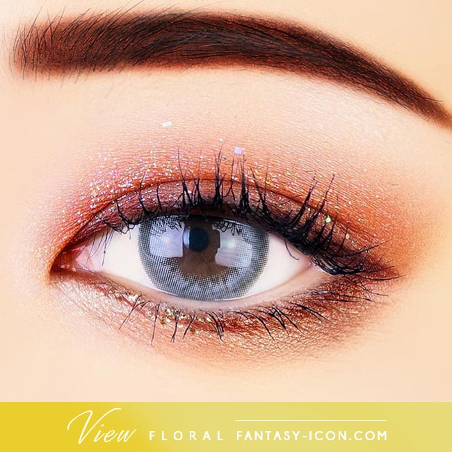 Grey Contacts - View Floral Gray - Eyes 2