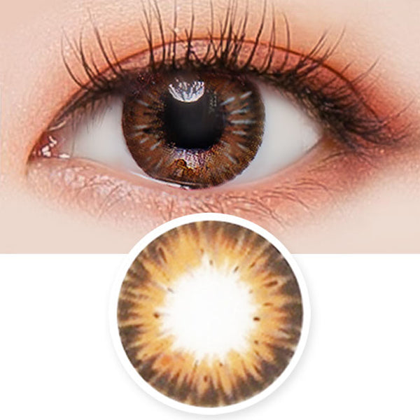 Colored Contacts Gemstone Brown - Circle Lenses