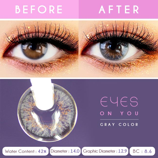 Grey Colored Contacts - Eyes on You - Detail