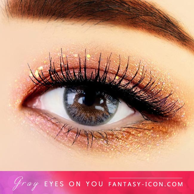 Grey Colored Contacts - Eyes on You -Gray Eyes 2