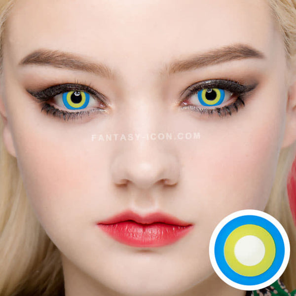 Halloween cosplay Blue Yellow contact Lens 1