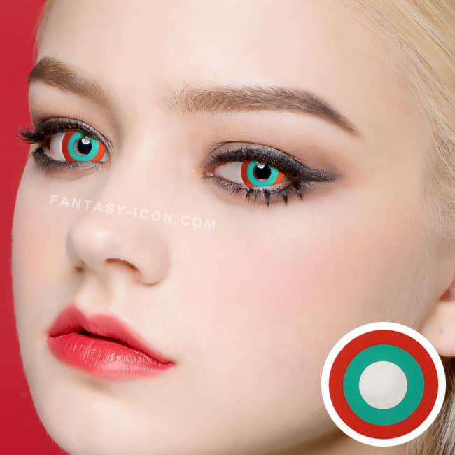 Halloween cosplay Red Green contact Lens 2