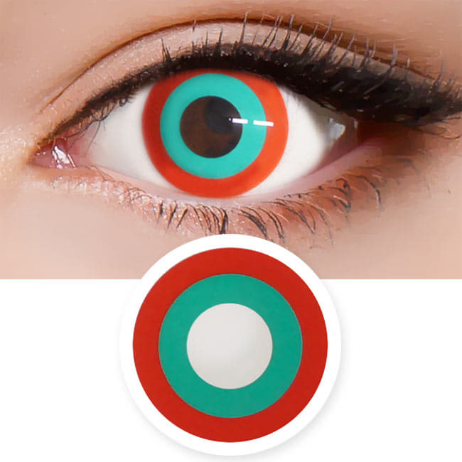 Halloween cosplay Red Green contact Lens