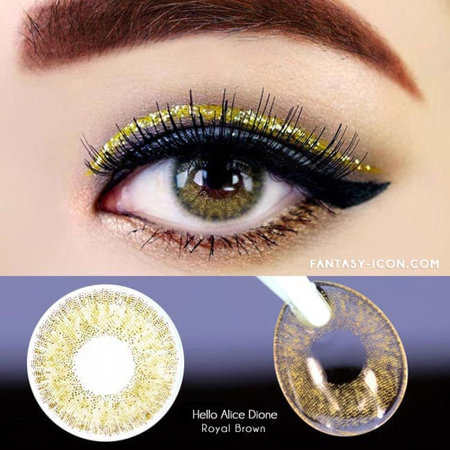 Colored Contacts Alice Dione Brown - Circle Lenses 2