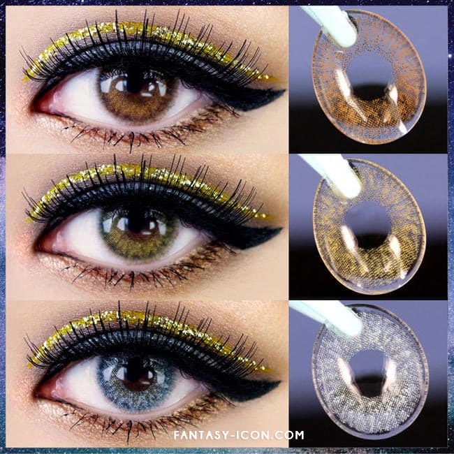 Colored Contacts Alice Dione Brown - Circle Lenses 3